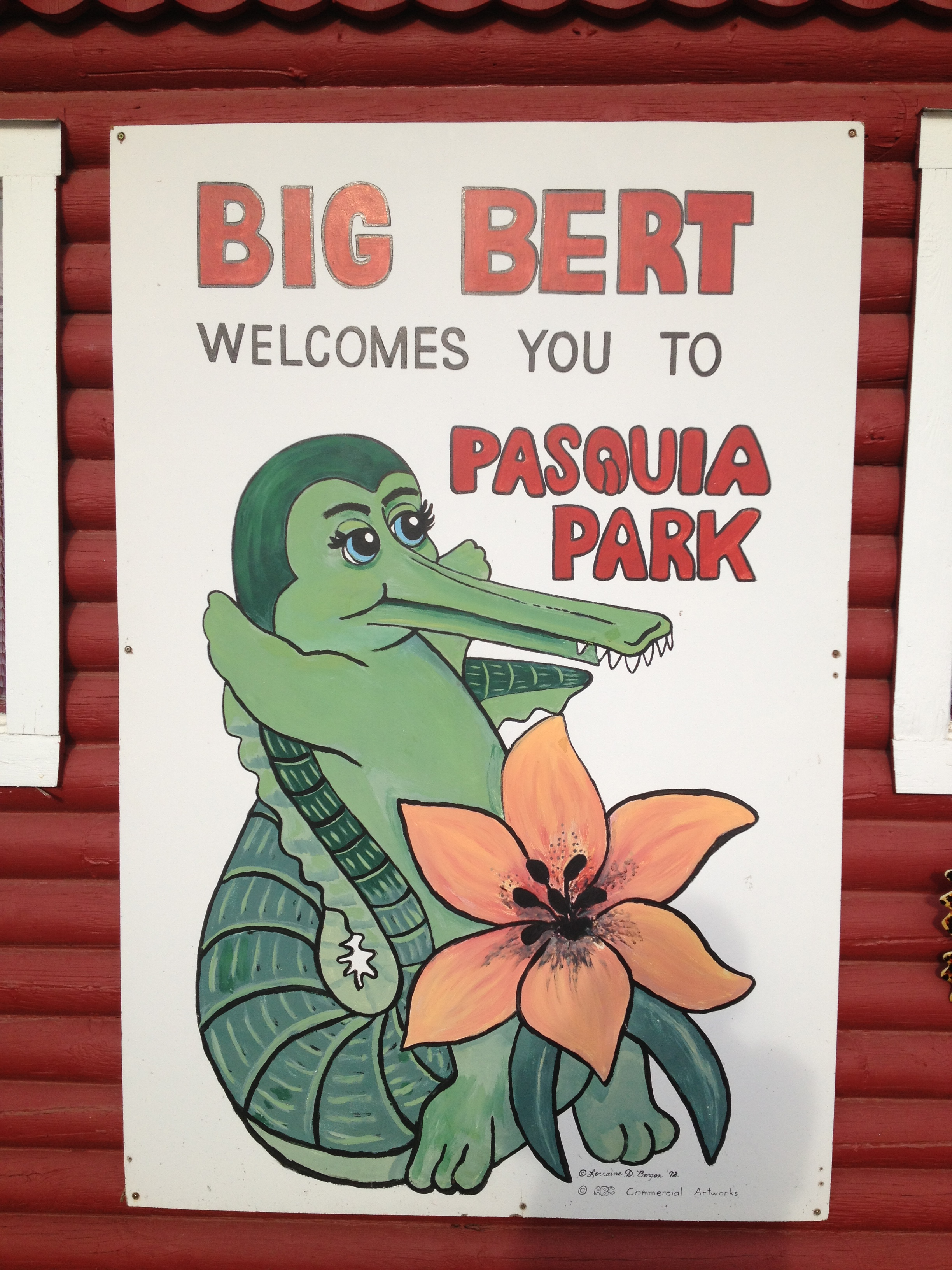 Big Bert Welcomes you to the Pasquia Regional Park
